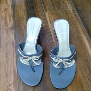 Light blue heeled sandals